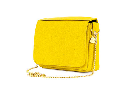 Yellow,Citibag, Cork leather