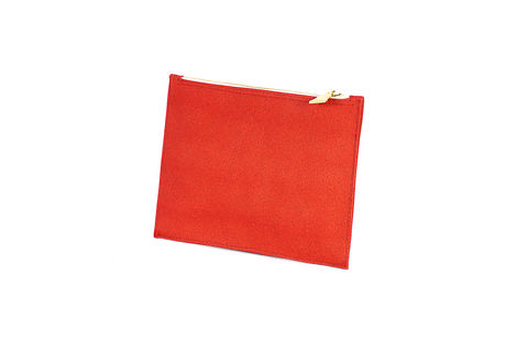 Red,Primrose,Pouch,Clutch, Cork, zips, Vegan