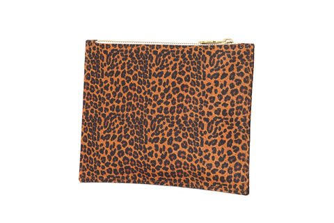 Leopard,Primrose,Pouch,Vegan, sustainable, pouch, purse