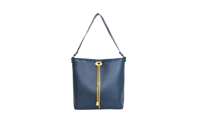 Drayton Chain Tote Navy Handbag - product images  of