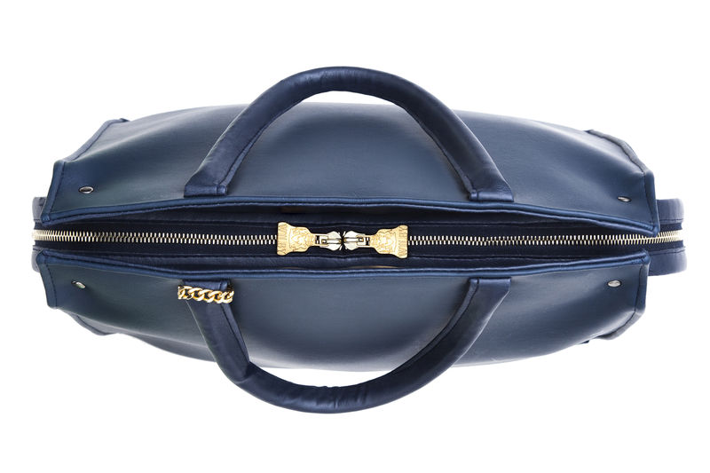 Drayton Navy Loop Zip Tote - product images  of