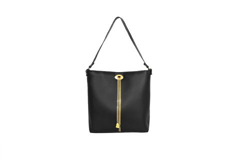 Drayton,Black,Chain,Tote,Vegan, Tote, Wilby, handbag, ethical, everydaywear