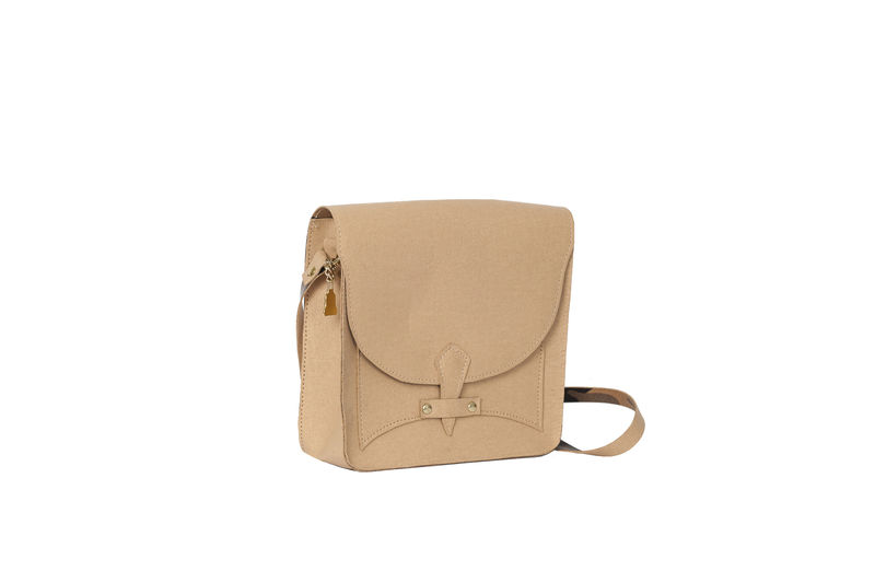 Beige V Satchel   - product images  of