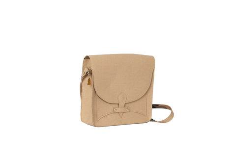 Beige,V,Satchel,vegan, sustainable, cork, saddle bag, fashion