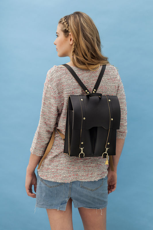 Black Bailey Rucksack | Vegan Backpack - product images  of