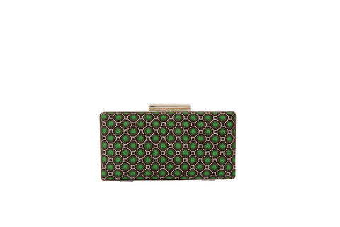 Green,Hex,Print,Clutch,Mosaic, Clutch, Vegan, sustainable, prints, UK Made,
