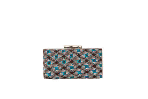 Twist,Print,Clutch,Mosaic, Clutch, Vegan, sustainable, prints, UK Made,