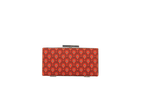 Red,Print,Clutch,Mosaic, Clutch, Vegan, sustainable, prints, UK Made,