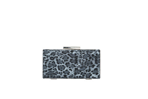Grey,Leopard,Print,Clutch,Mosaic, Clutch, Vegan, sustainable, prints, UK Made,