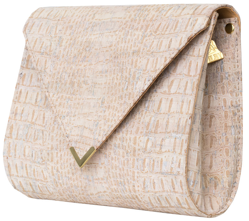 White Croc V Clutch - product images  of