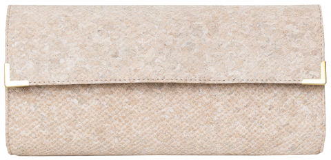 White,Snake,Long,Clutch,crocskin, vegan, sustainable, clutch