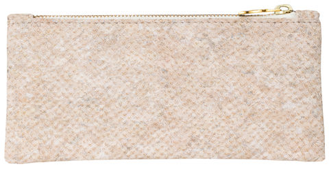 White,Snake,Pouch,crocskin, vegan, sustainable, clutch
