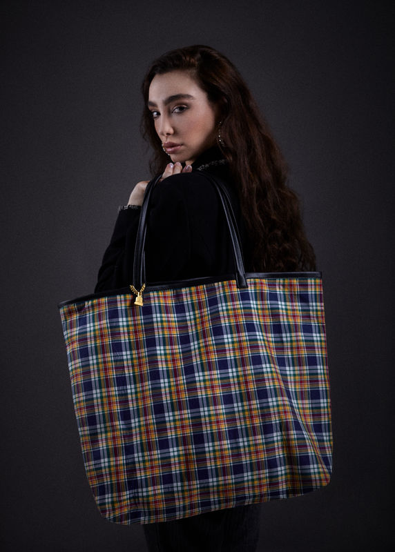 Yellow Tartan Tote - product images  of