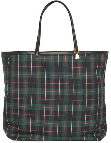 NEW!,Black,Watch,Tartan,Tote, green, Wilby