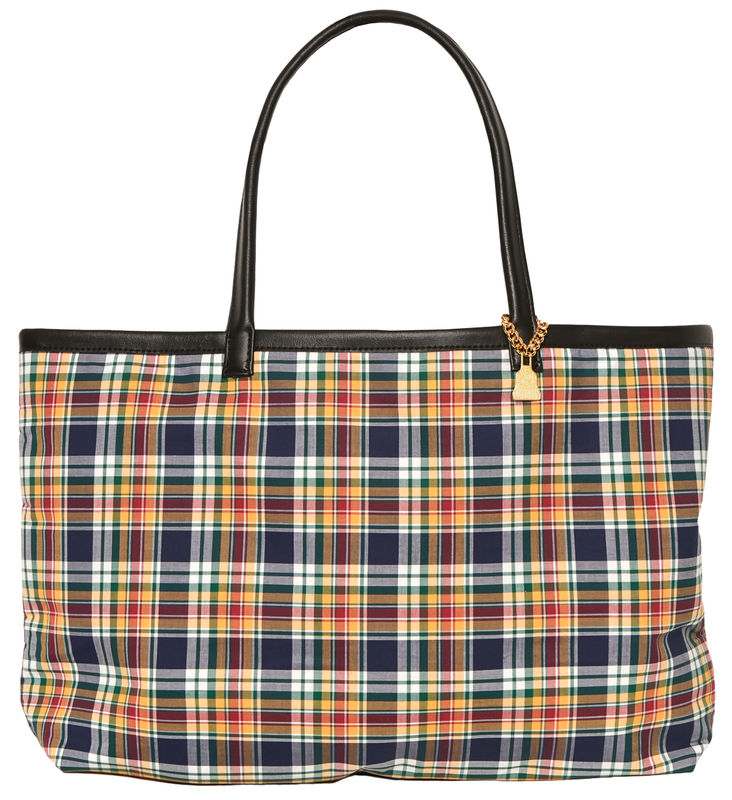 Medium Yellow Tartan Tote - product images  of