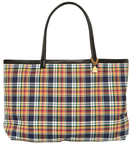 Medium,Yellow,Tartan,Tote,Tate, Tartan, yellow bag