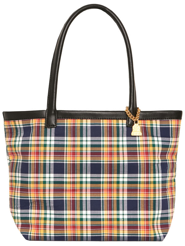 Small Yellow Tartan Tote - product images  of