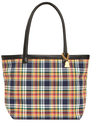 Small,Yellow,Tartan,Tote, Tartan, Vegan bags