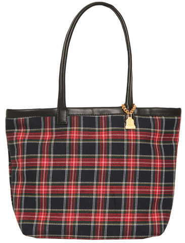 Small,Redpatch,Tartan,Tote, Handbag