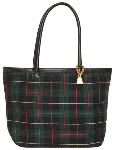 NEW!,Small,Black,Watch,Tartan,Tote,Black Watch, Tartan