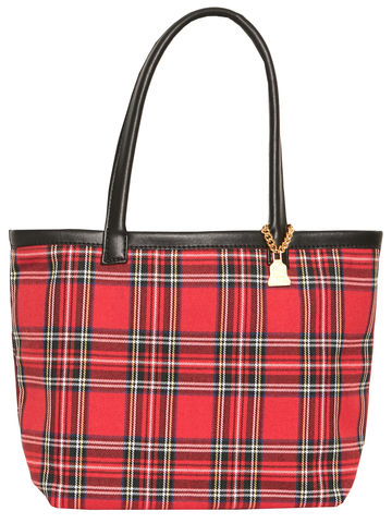 Small,Royal,Watch,Tartan,Tote,Red Watch, Tartan
