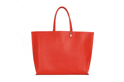 Red,Primrose,Tote,Cork Leather, Vegan , Tote, red bag