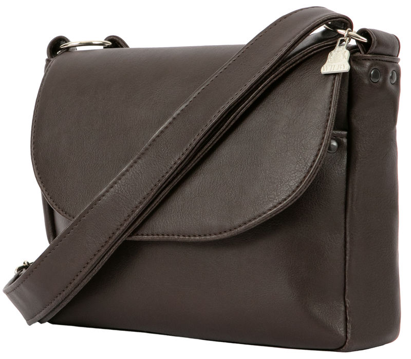 Brown Vegan Unisex Messenger  - product images  of
