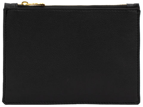 Large,Black,Vegan,Clutch,vegan, clutch, black bag, cork, eco friendly bags