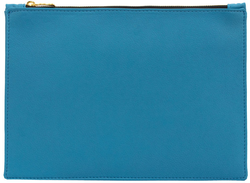 Large Blue Vegan Clutch - product images  of