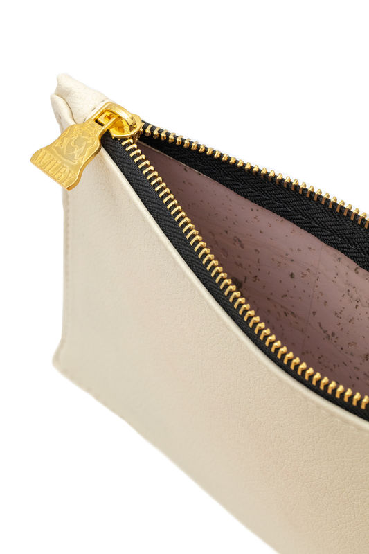 Small White Vegan Clutch - product images  of