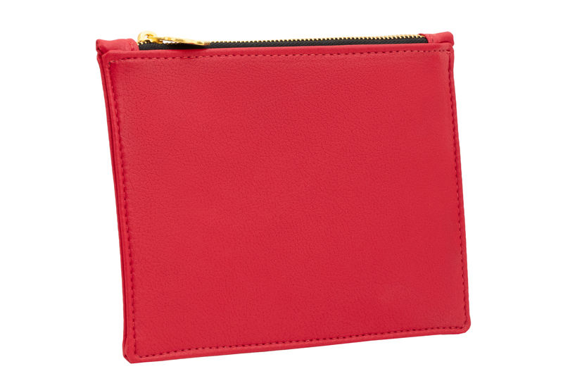 Small Red Vegan Clutch - product images  of