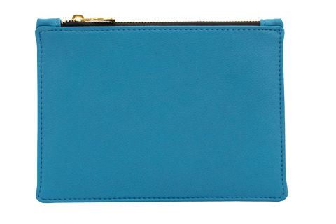 Small,Blue,Vegan,Clutch,Blue vegan bag, vegan clutch, blue accessories, eco friendly bags