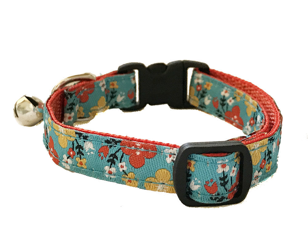 Spring Floral Cat Collar - product images  of