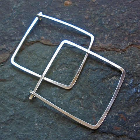 Sterling,Silver,Square,Hoop,Earrings,-,1,Jewelry,sterling_silver_hoop,silver_hoops,sterling_hoops,sterling_square_hoop,square_hoop_earrings,square_hoops,hammered_hoops,hammered_squares,silver_earrings,sterling_earrings,sstargell,steph_stargell,valentines_day,sterling_silver