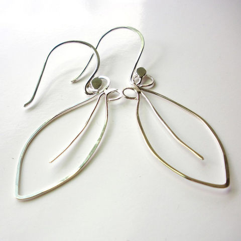 Sterling,Silver,Leaf,Earrings,-,hammered,dangles,Jewelry,Dangle,sterling_earrings,silver_earrings,sterling_leaves,silver_leaves,sterling_silver,leaf_earrings,leaves_earrings,nature_earrings,hand_forged,hammered_leaves,sstargell,steph_stargell