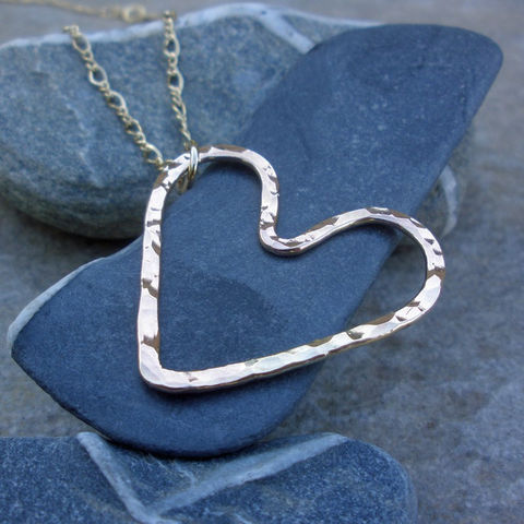 Gold,Heart,Necklace,-,Hammered,14K,Fill,Pendant,Jewelry,Metal,gold_filled_heart,heart_necklace,gold_heart_necklace,hammered_heart,hammered_gold_heart,gold_necklace,wedding,18_inch_necklace,love_necklace,sstargell,Mothers_Necklace,steph_stargell,Valentines_Day,14_karat_gold_fill,14k,14K_Gold_Fi