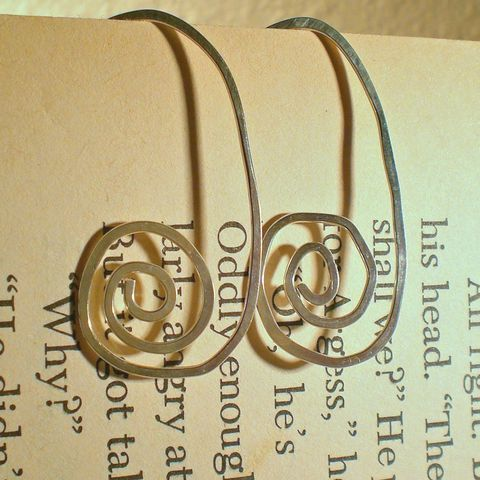 Labyrinth,Jewelry,Earrings,Dangle,metal,metalwork,swirl,swirly,sstargelldesigns,cyber_monday_etsy,sterling_silver