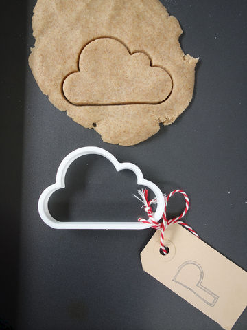 Cloud,Cookie,Cutter,Printmeneer, cookie, biscuit, cutter, dough, baking, white, 3D, printed, print, cloud