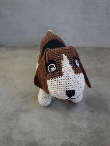 Crochet,Fine,Basset,Anne-Claire Petit, ACP, Anne, Claire, Petit, dog, basset, hound, toy, doll, soft, fine, baby, kids, childrens, babies, children, crochet, crocheted