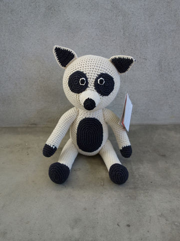 Rocky,Raccoon,Anne-Claire Petit, ACP, Anne, Claire, Petit, raccoon, Rocky, toy, doll, soft, fine, baby, kids, childrens, babies, children, crochet, crocheted