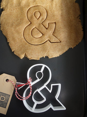 Ampersand,Cookie,Cutter,Printmeneer, cookie, biscuit, cutter, dough, baking, white, 3D, printed, print, &, ampersand