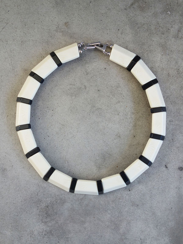 Vintage Faux Ivory Necklace - product images  of