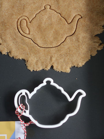Teapot,Cookie,Cutter,Printmeneer, cookie, biscuit, cutter, dough, baking, white, 3D, printed, print, teapot, tea, tea pot, gift, tea lover
