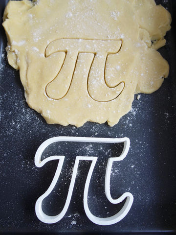 Pi,Cookie,Cutter,Printmeneer, cookie, biscuit, cutter, dough, baking, white, 3D, printed, print, gift, maths, nerd, nerdy, pi, pie, geometry
