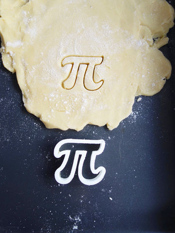 Mini,Pi,Cookie,Cutter,Printmeneer, cookie, biscuit, cutter, dough, baking, white, 3D, printed, print, gift, maths, nerd, nerdy, pi, pie, geometry, mini
