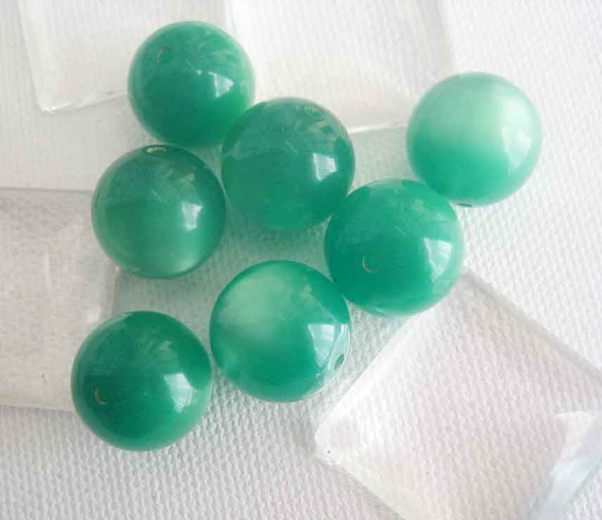 10mm moonglow lucite beads choose orange or green 8 - product images  of