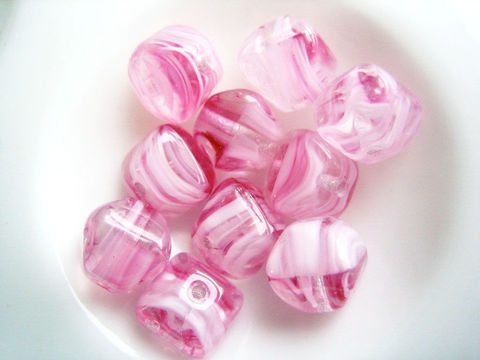 Vintage,Glass,Beads,,Dark,rose,striated,,double,pyramid,6mm,,12,Supplies,Bead,double_pyramid_beads,vintage_glass_beads,striated_glass_beads,pink_givre,flat_bicone,dark_rose,rose_white_clear,dark_rose_pink,Czech_glass_beads,vintage_Czech_glass,dark_pink_and_clear,dark_pink_and_white,Barrie_Beads