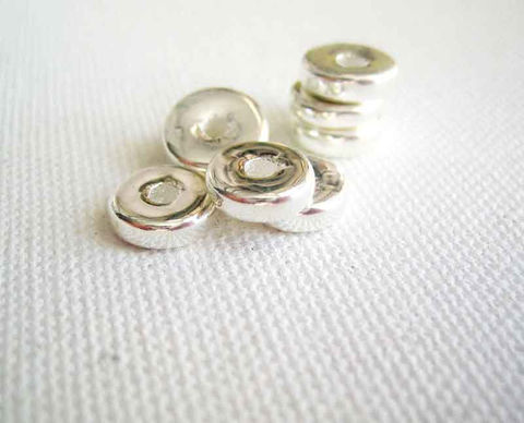 8mm,Greek,Ceramic,Metallic,Washer,Beads,20,Greek ceramic beads, metallic ceramic, washer beads, Mykonos beads, fine silver beads, silver ceramic beads, 8mm beads, Mykonos beads Canada