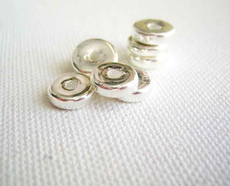 8mm Greek Ceramic Metallic Washer Beads 20 - product images  of