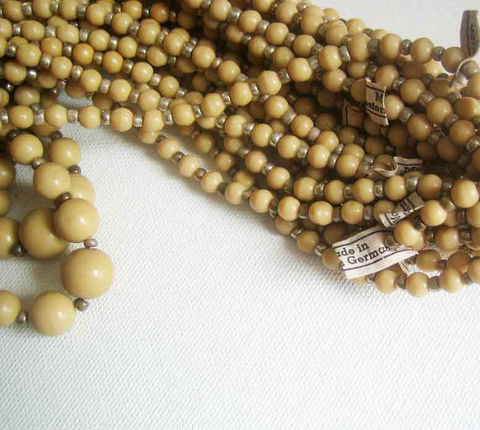 Wholesale,lot,Vintage,West,Germany,Bead,Strands,5,,light,coffee,tan,Supplies,vintage_glass_beads,tan_glass_beads,Western_German_beads,Wholesale lot beads,West_Germany,bead_strands,vintage_bead_strand,cafe_au_lait_beads,graduating_beads,West_German_with_tag,tagged_vintage_beads,vintage_beads_Canada,vintage_bead_Ontari